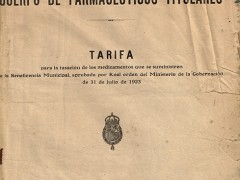 Tarifa Farmacéutica para la Beneficencia Municipal
