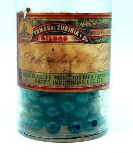 capsulas de creosota,  etiqueta